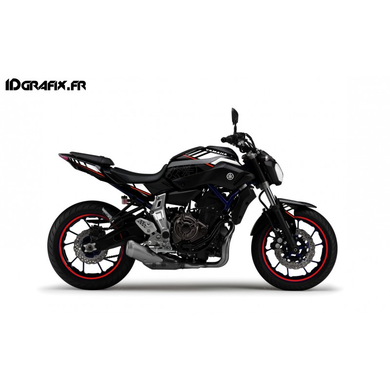 Kit decoration ltd red idgrafix yamaha mt 07 idgrafix for Decoration yamaha