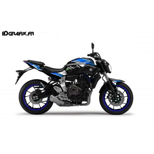 photo du kit décoration - Kit décoration GP Series Bleu - IDgrafix - Yamaha MT-07