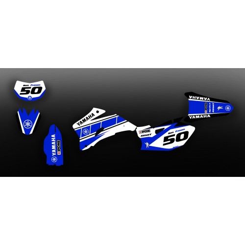 photo du kit décoration - Kit décoration Vintage series Bleu - IDgrafix - Yamaha WR 250-450