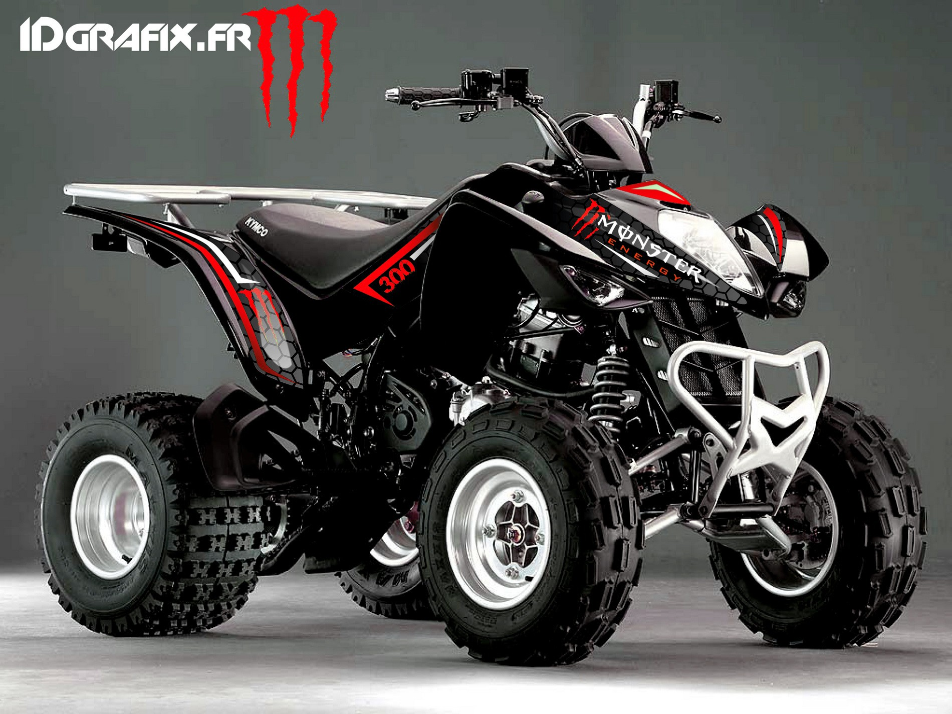 kit deco custom monster red kymco 300 maxxer idgrafix. Black Bedroom Furniture Sets. Home Design Ideas