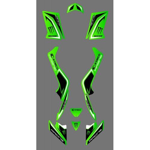 photo du kit décoration - Kit déco personnalisé Monster - Kymco 50 Maxxer
