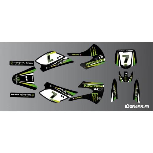 photo du kit décoration - Kit déco Kawasaki Racing pour Kawasaki KX 85 (2005-2013)