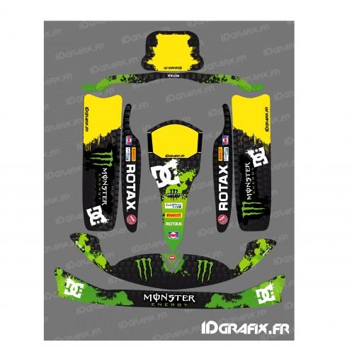 photo du kit décoration - Kit déco 100 % Personnalisé Monster pour Karting Rotax 125