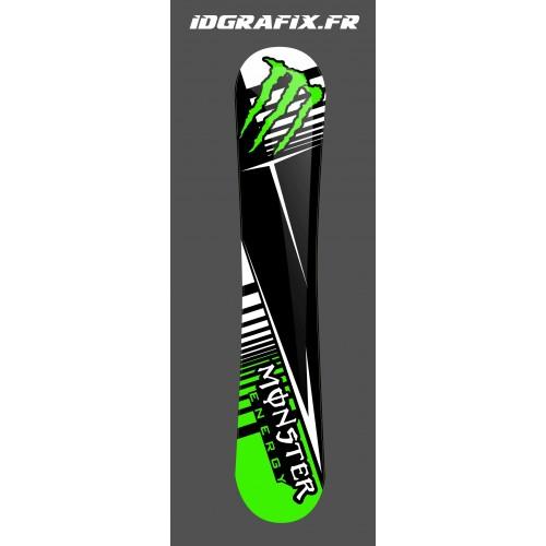 photo of the kit, decoration Kit deco 100 % Custom Monster Green SnowBoard