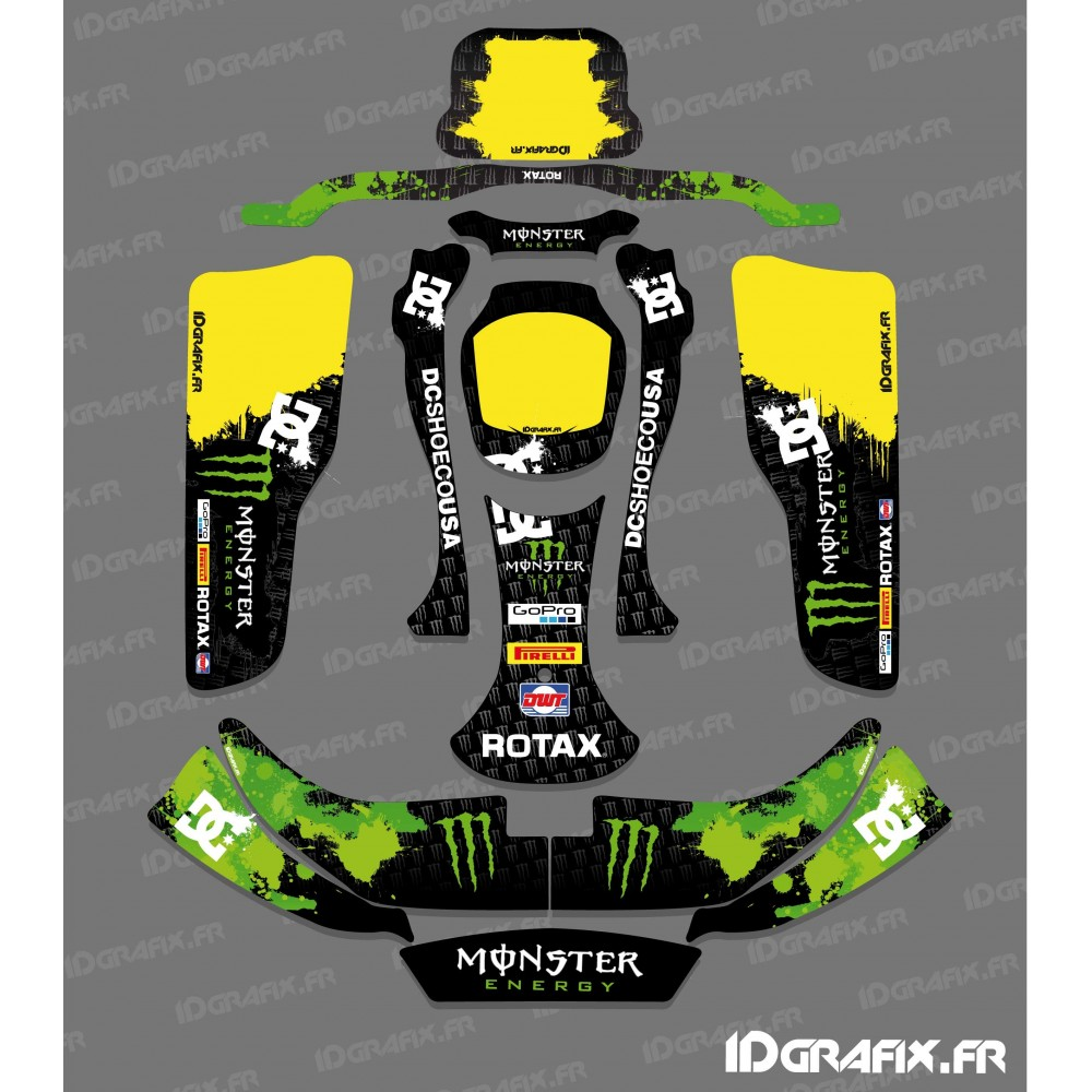 Kit deco 100 custom monster kart crg rotax 125 idgrafix for Deco karting