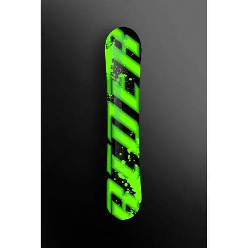 photo du kit décoration - Kit déco 100 % Personnalisé Rider Vert pour SnowBoard