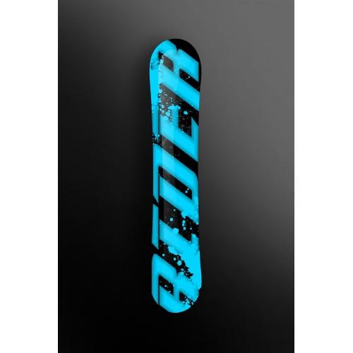 photo du kit décoration - Kit déco 100 % Personnalisé Rider Bleu pour SnowBoard