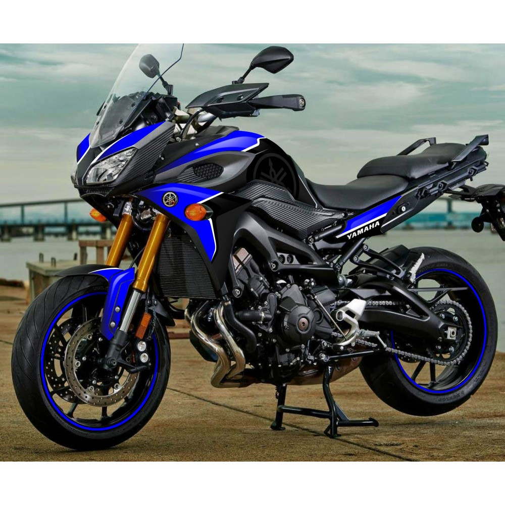 kit decoration blue edition yamaha mt 09 tracer idgrafix. Black Bedroom Furniture Sets. Home Design Ideas