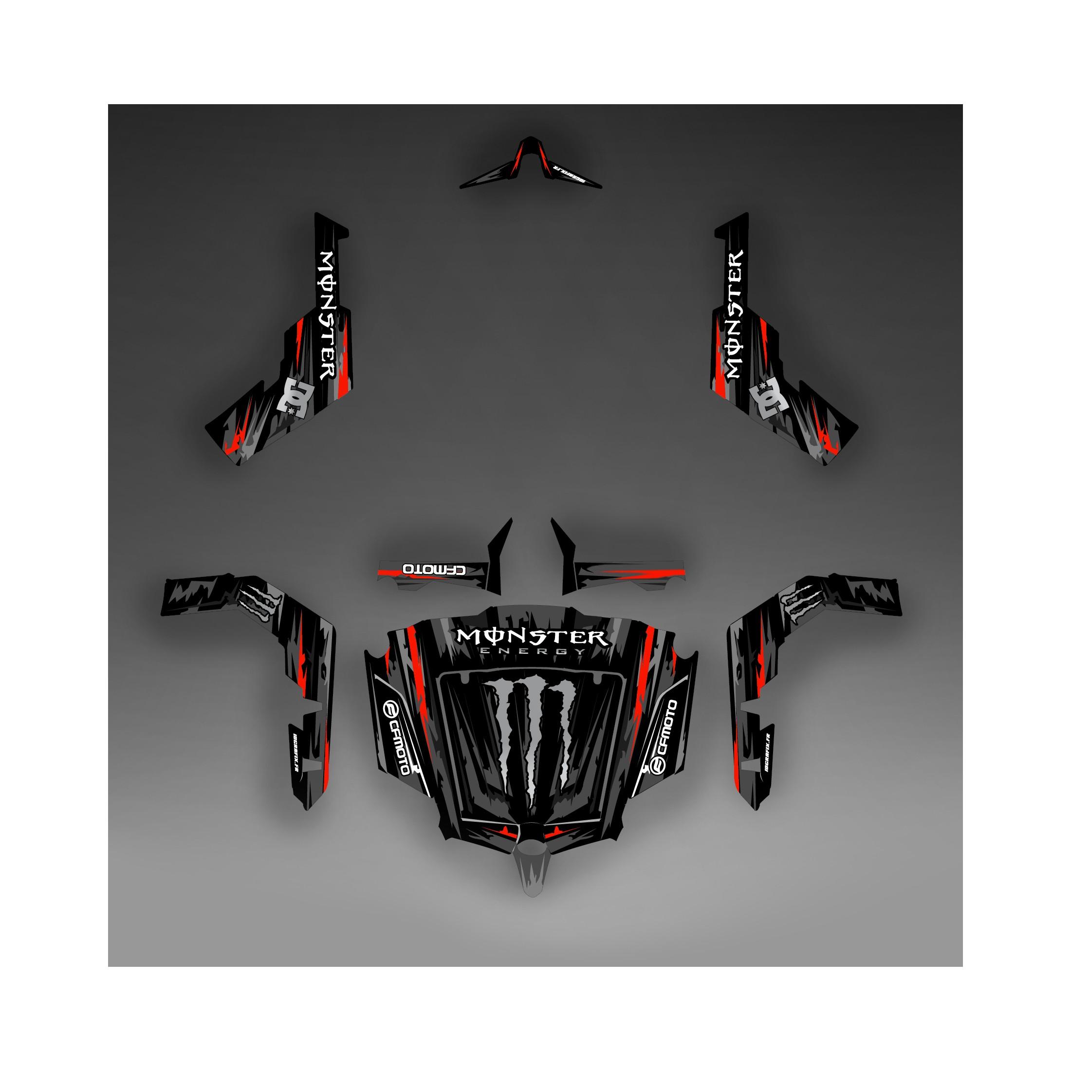 Kit d coration monster edition noir rouge idgrafix for Porte zforce 800