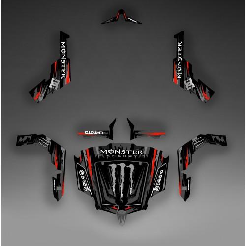 photo du kit décoration - Kit décoration Monster Edition (Noir/Rouge) - Idgrafix - CF Moto ZForce