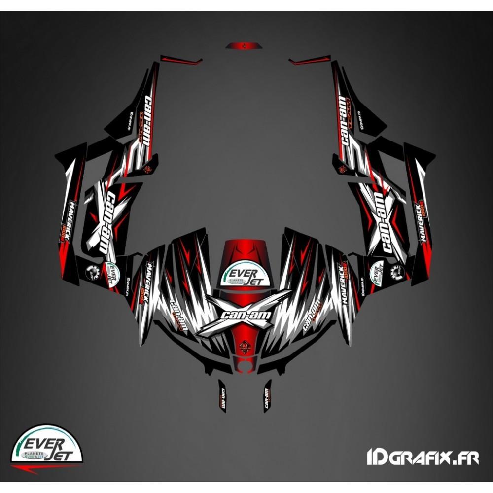 Kit d coration porte origine ultimate rouge idgrafix for Decoration porte rouge