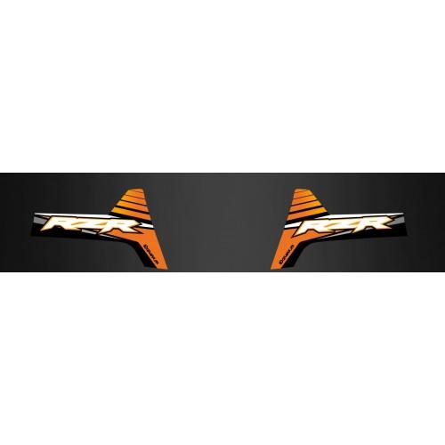 photo du kit décoration - Kit déco Arrière RZR800 (Orange Ed) - IDgrafix - Polaris RZR 800