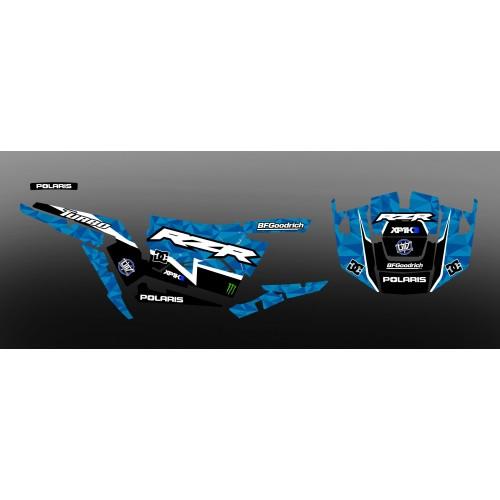 foto del kit, Kit de decoración decoración XP1K3 Edición (Azul)- IDgrafix - Polaris RZR 1000 Turbo