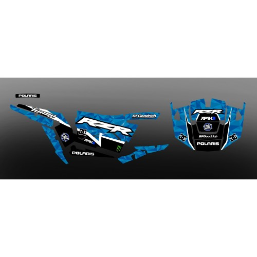 foto-kit deko - Kit dekoration XP1K3 Edition (Blau)- IDgrafix - Polaris RZR 1000 Turbo