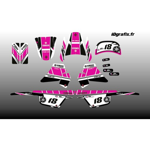 foto del kit, Kit di decorazione decorazione Rosa Girly Full - IDgrafix - Yamaha 50 Piwi