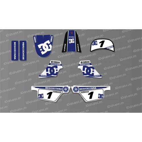 photo du kit décoration - Kit décoration Blue DC Shoes Light - IDgrafix - Yamaha 50 Piwi
