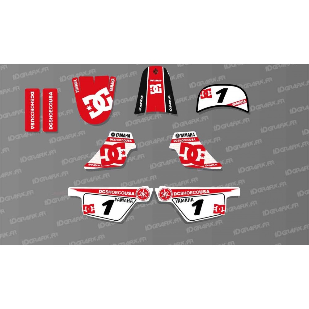 kit decoration red dc shoes light idgrafix yamaha 50 piwi id. Black Bedroom Furniture Sets. Home Design Ideas