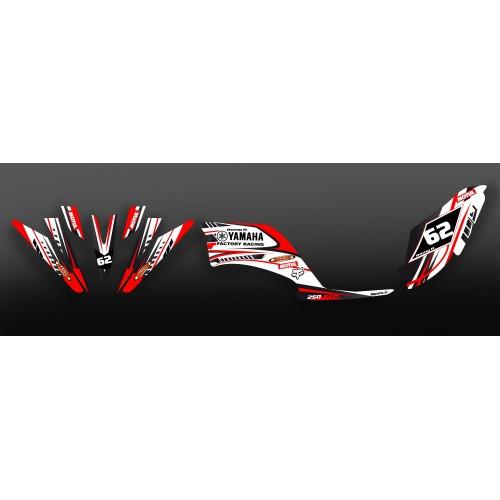 photo du kit décoration - Kit décoration Factory Rouge - IDgrafix - Yamaha 250 Raptor