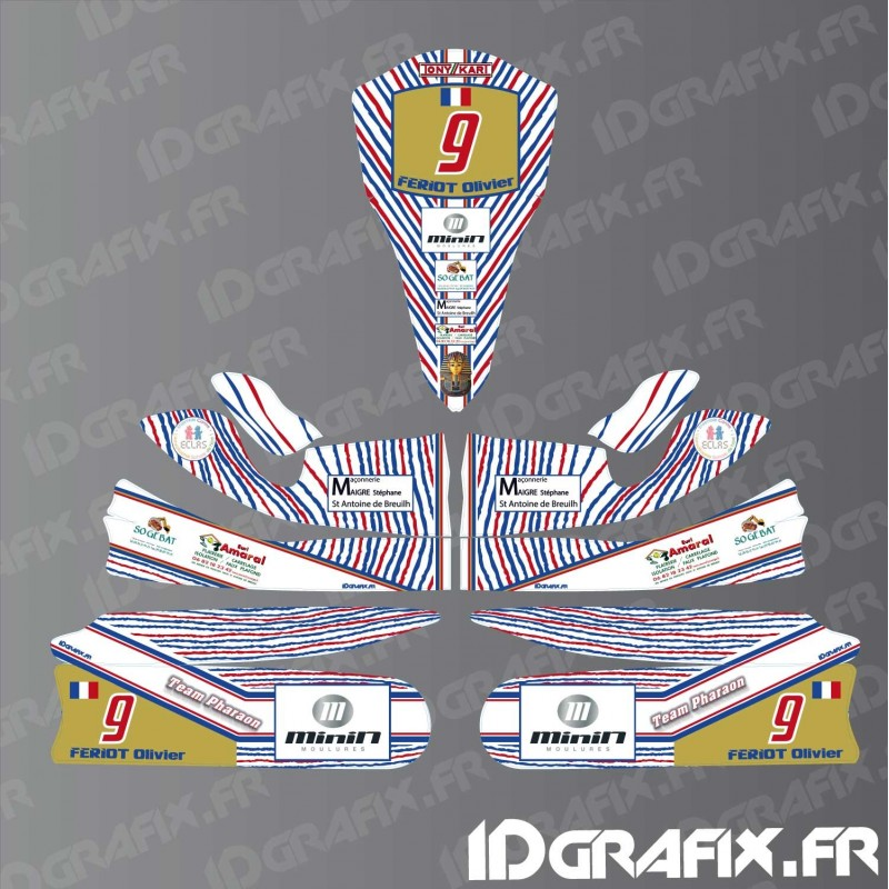 Kit deco 100 custom for karting tony kart m4 idgrafix for Deco karting