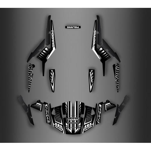 foto del kit, Kit de decoración para la decoración de Carbono de la Edición IDgrafix - Polaris RZR 1000 TURBO