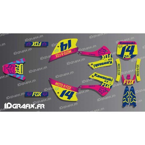 photo du kit décoration - Kit déco FOX Racing pour Kawasaki KX 85 (2005-2013)