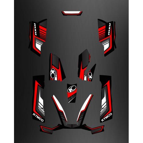 foto del kit, Kit de decoración Deco Limitado Rojo - Kymco 550 / 700 MXU