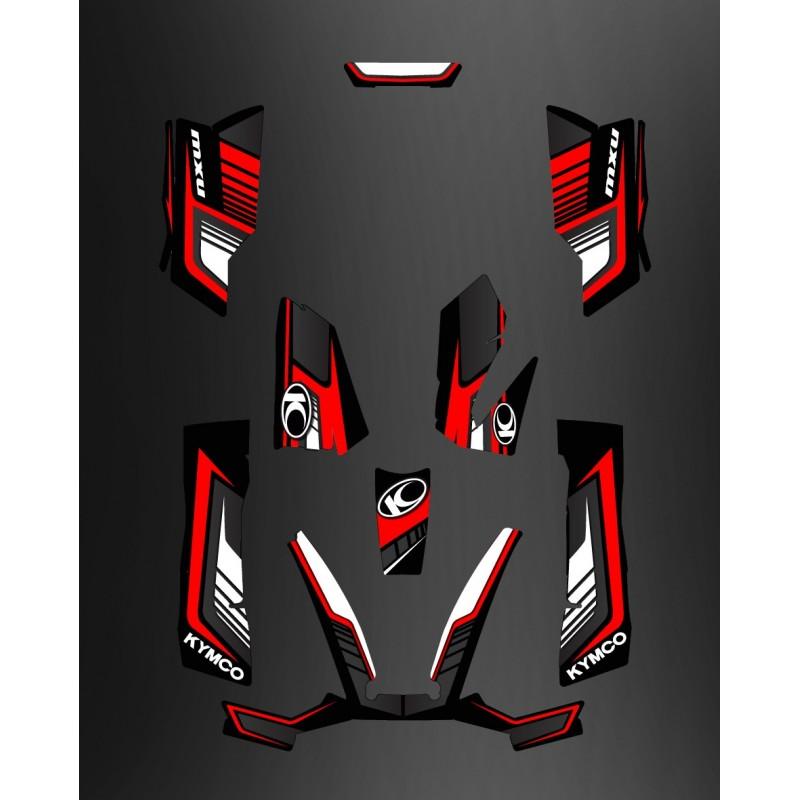 photo du kit décoration - Kit Déco Limited Rouge - Kymco 550 / 700 MXU