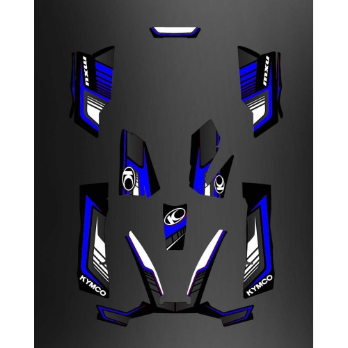 photo du kit décoration - Kit Déco Limited Bleu - Kymco 550 / 700 MXU