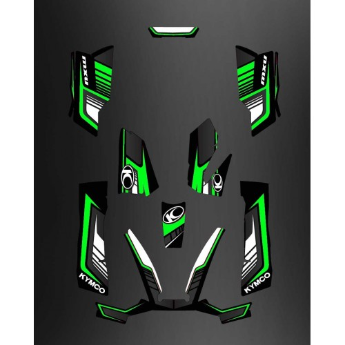 photo du kit décoration - Kit Déco Limited Vert - Kymco 550 / 700 MXU