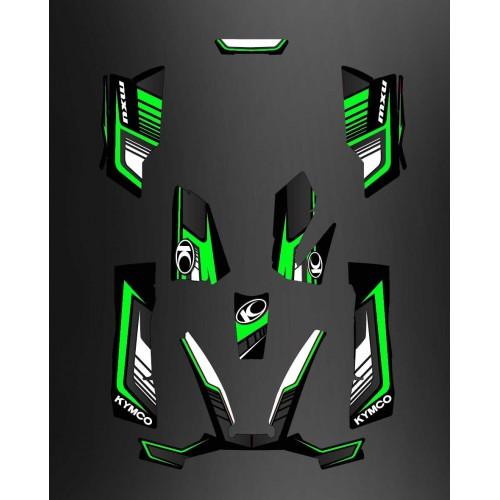photo of the kit, decoration Kit Deco Limited Green - Kymco 550 / 700 MXU