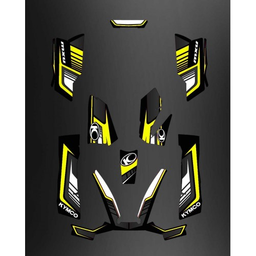 photo du kit décoration - Kit Déco Limited Jaune - Kymco 550 / 700 MXU