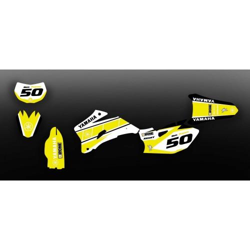 photo du kit décoration - Kit décoration Vintage Yellow Edition - Yamaha YZ/YZF 125-250-450