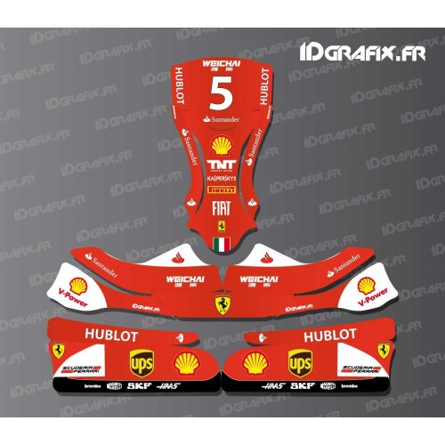 photo du kit décoration , Kit déco F1,series Scuderia pour Karting KG EVO 11