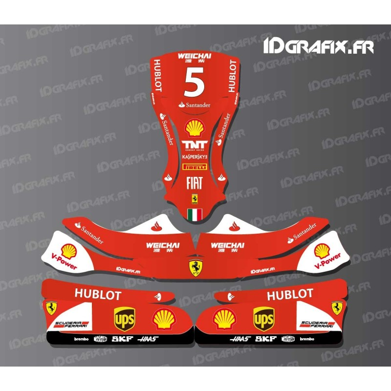 Kit d co f1 series scuderia pour karting kg evo 11 kit for Deco karting