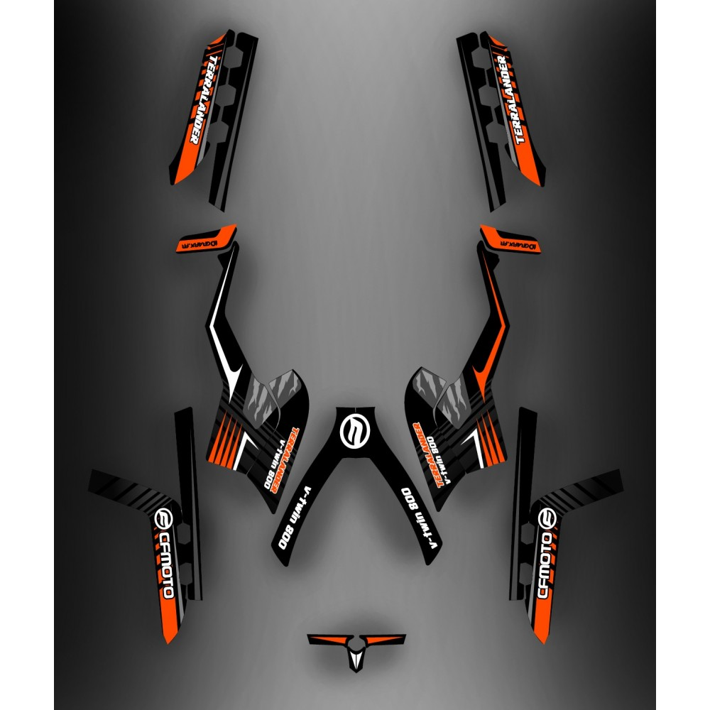 kit d co claw orange full cf moto cforce 800 kit deco quad cf. Black Bedroom Furniture Sets. Home Design Ideas