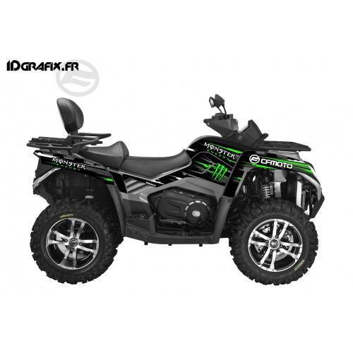 Kit déco 100% Perso Monster Vert Full - CF MOTO CForce 800