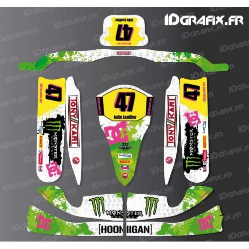 photo du kit décoration - Kit déco 100 % Personnalisé Monster pour Karting TonyKart M4 + Plancher