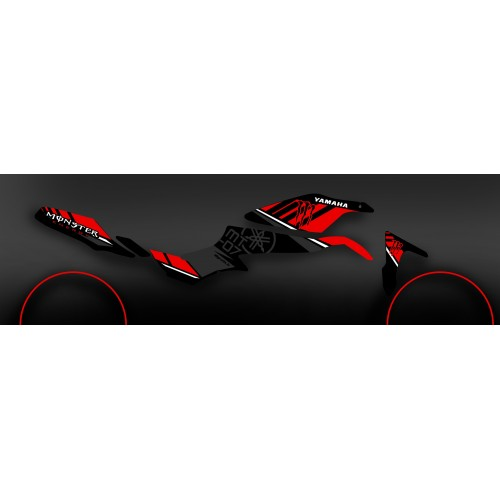 Kit décoration 100% Perso Monster rouge - IDgrafix - Yamaha MT-07