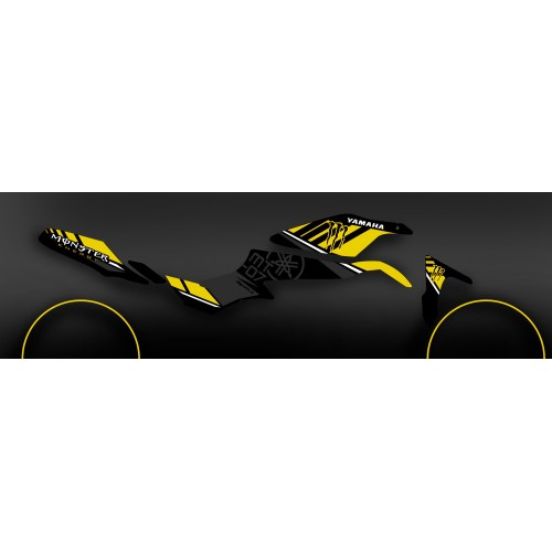 Kit décoration 100% Perso Monster Jaune - IDgrafix - Yamaha MT-07