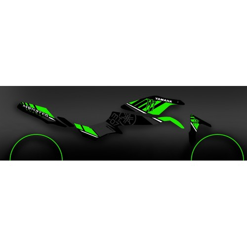 photo du kit décoration - Kit décoration 100% Perso Monster Vert - IDgrafix - Yamaha MT-07