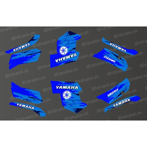 photo du kit décoration - Kit décoration LTD Bleu - IDgrafix - Yamaha Grizzly 550-700