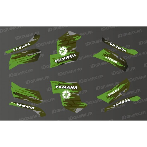 photo du kit décoration - Kit décoration LTD Vert - IDgrafix - Yamaha Grizzly 550-700