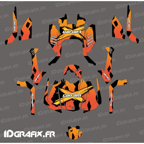photo du kit décoration - Kit décoration Babe series (orange) - IDgrafix - Can Am Outlander G2
