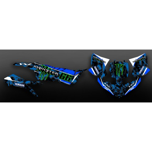 photo of the kit, decoration Kit deco 100% Custom Monster Blue - Yamaha YXZ 1000