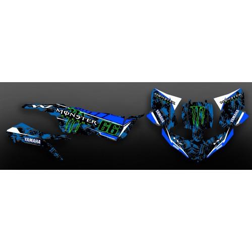 photo du kit décoration - Kit déco 100% Perso Monster Bleu - Yamaha YXZ 1000