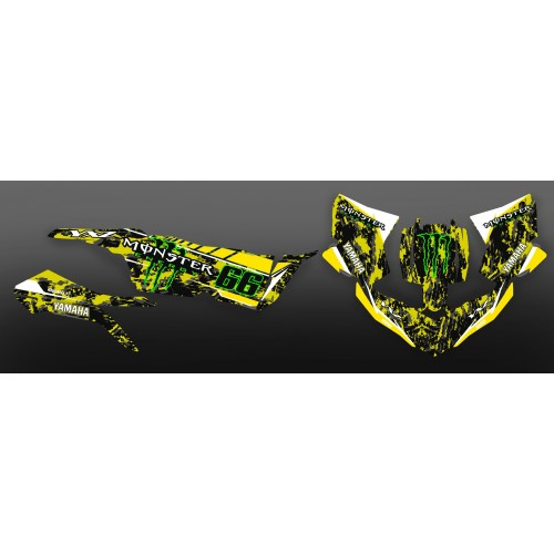 photo du kit décoration - Kit déco 100% Perso Monster Jaune - Yamaha YXZ 1000