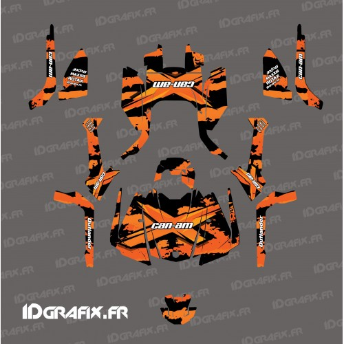 photo du kit décoration - Kit décoration Snatch series (orange) - IDgrafix - Can Am Outlander G2