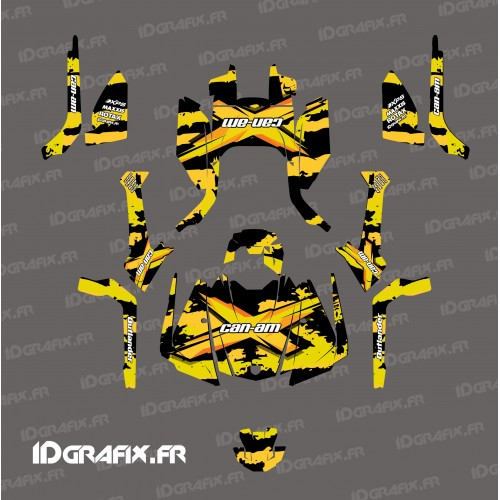 photo du kit décoration - Kit décoration Snatch series (Jaune) - IDgrafix - Can Am Outlander G2