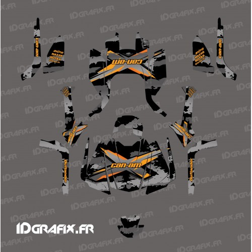 photo du kit décoration - Kit décoration Snatch series (Gris) - IDgrafix - Can Am Outlander G2