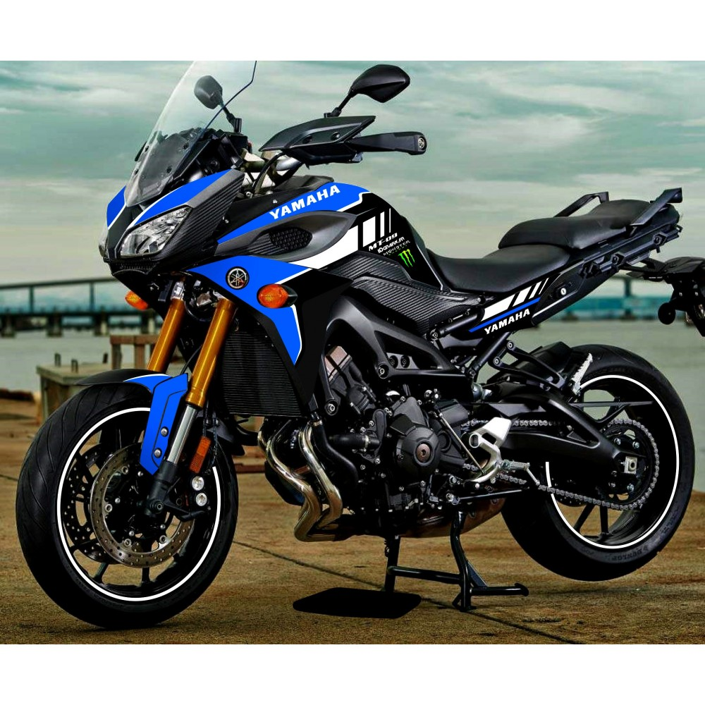 kit decoration blue gp edition yamaha mt 09 tracer idgrafix. Black Bedroom Furniture Sets. Home Design Ideas